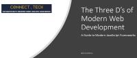 The Three D's of Modern Web Development