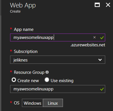 Azure Web Apps for Linux