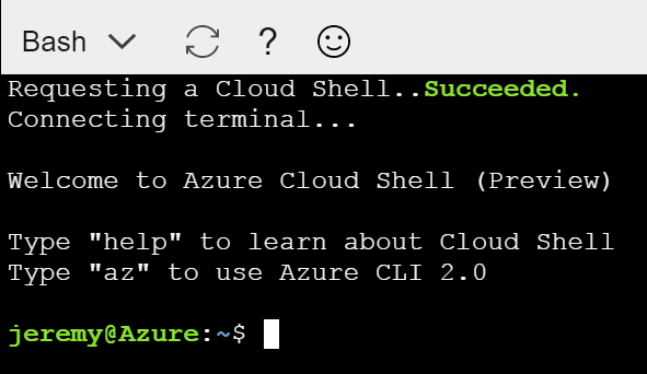 Cloud Shell is Ready