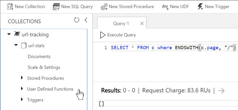 A Query in the Azure Portal