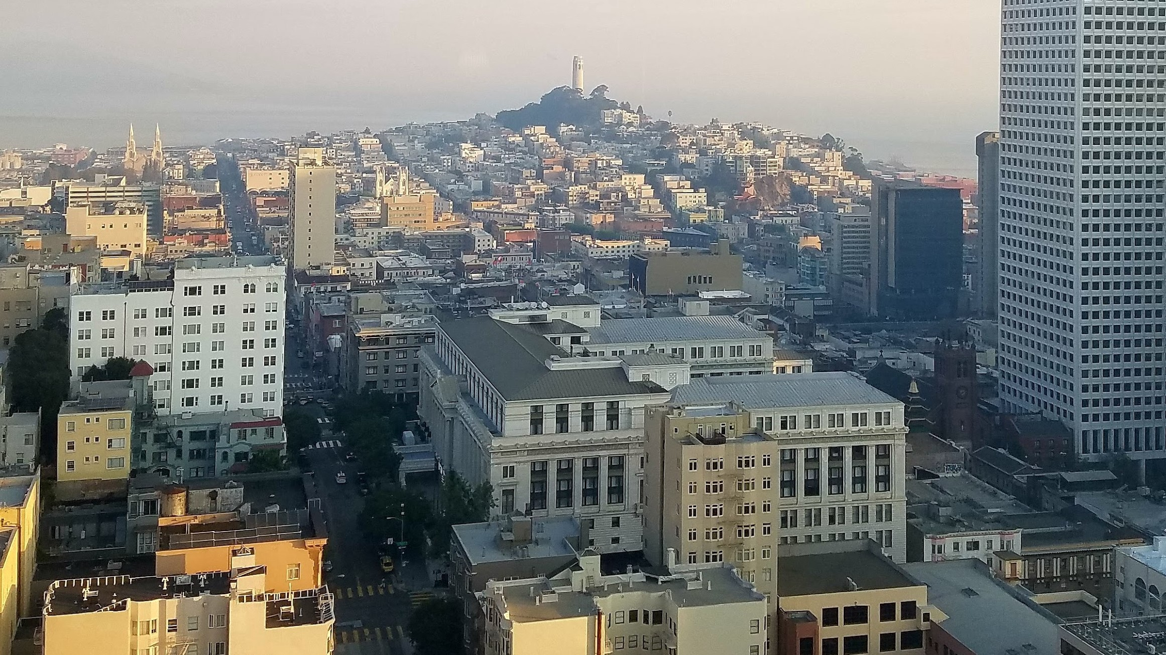 San Francisco, looking from Union Square, October 2017