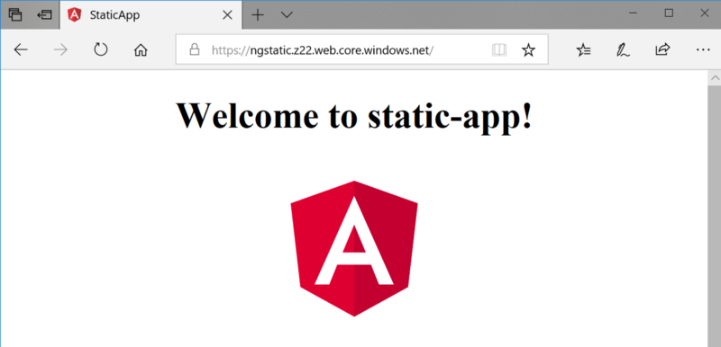 Statically hosted Angular app
