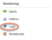 Navigate to logs from Application Insights