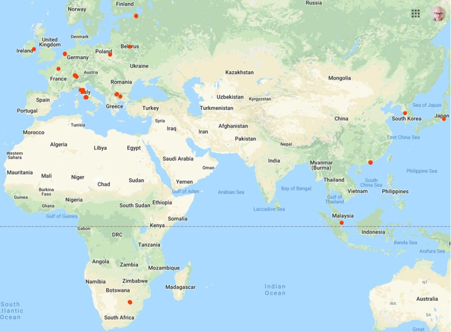 International speaking venues I've been at